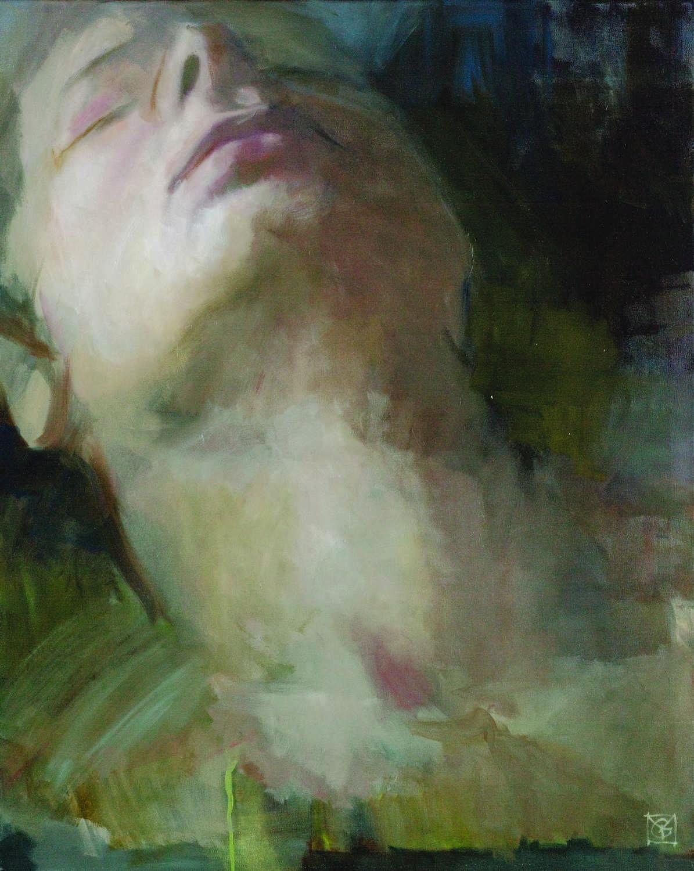 Léphaft Pál – Nyx fedetlen nyakának íve Verebes György zentai kiállításán